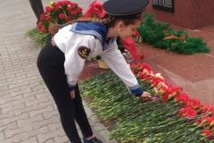 Возложение цветов к памятнику Бориса Богаткова